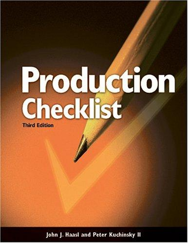 Production checklist for builders and superintendents