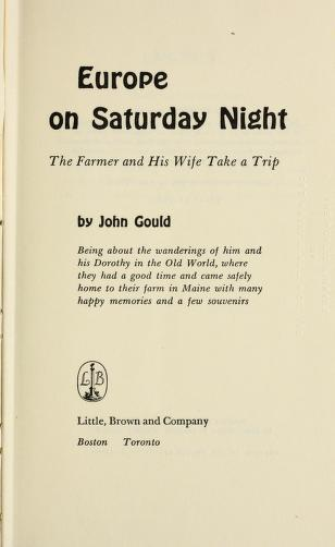 Europe on Saturday night by Gould, John