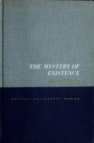 Cover of: The mystery of existence | Milton Karl Munitz